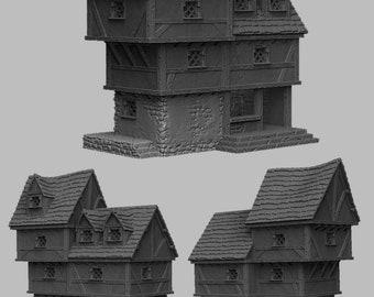 Ye Olde Shoppe - DND - Dungeons & Dragons - RPG - Pathfinder - Tabletop - TTRPG - Medieval Scenery - Dark Realms - 28 mm