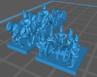 Portougese Artillery and train - Great for Table Top War Games And Dioramas - Resin 6mm Miniatures - Bolt Action -