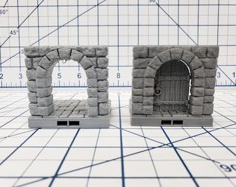 "Castle Style - Door Tile - DragonLock - DND - Pathfinder - RPG - Dungeon & Dragons - 28 mm / 1"" - Terrain - Fat Dragon Games"