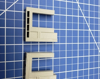 """Half-Timbered Wall Doors - Dragonshire - Building - Fat Dragon Games - DND - Pathfinder - RPG - Terrain - 28 mm/ 1"""" - Dungeon & Dragons"""