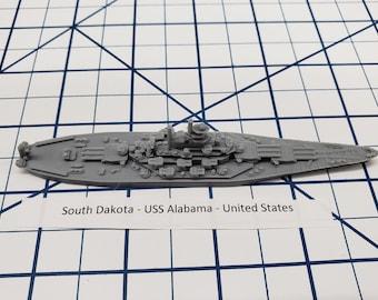 Battleship - Alabama - US Navy - Wargaming - Axis and Allies - Naval Miniature - Victory at Sea - Tabletop Games - Warships