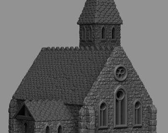 The Church - DND - Dungeons & Dragons - RPG - Pathfinder - Tabletop - TTRPG - Medieval Scenery - Dark Realms - 28 mm