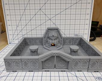 "Mountain King - Forge Room - Dwarven - DragonLock - DND - Pathfinder - RPG - Dungeon & Dragons - 28 mm / 1"" - Fat Dragon Games"