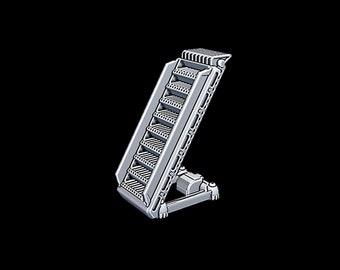 "Hanger Ladder - Novus Landing - Starfinder - Cyberpunk - Science Fiction - Syfy - RPG - Tabletop - Scatter - Terrain - 28 mm / 1"""