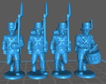 Austrian Landwehr with Korsehut and uniform - Great for Table Top War Games And Dioramas - Resin 28mm Miniatures - Bolt Action -