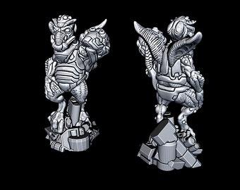 "Alien Merchant - Novus Landing - Starfinder - Cyberpunk - Science Fiction - Syfy - RPG - Tabletop - Scatter- Terrain- 28 mm / 1"""