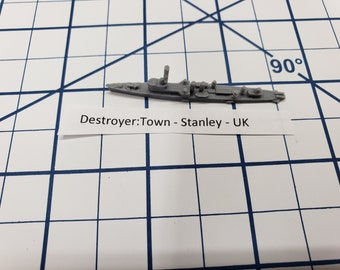 Destroyer - Town Class - Stanley - Royal Navy - Wargaming - Axis and Allies - Naval Miniature - Victory at Sea - Tabletop Games - Warships