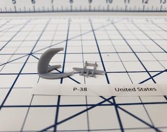Aircraft - P-38 - US Navy - 1:900 - Wargaming - Axis and Allies - Naval Miniature - Victory at Sea - Tabletop Games - Warships