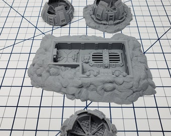 Access Hatch and Vents - Ignis Quadrant - Starfinder - Cyberpunk - Science Fiction - Syfy - RPG - Tabletop - EC3D - Scatter - Terrain