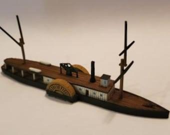 CSS Jamestown - Confederate - Ships - Sailboats - Age of Sail - War Game - Wargaming - Tabletop Games - 1/600 Scale