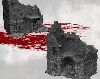 House Ruins - DND - Dungeons & Dragons - RPG - Pathfinder - Tabletop - TTRPG - Arkenfel - Dark Realms - 28 mm