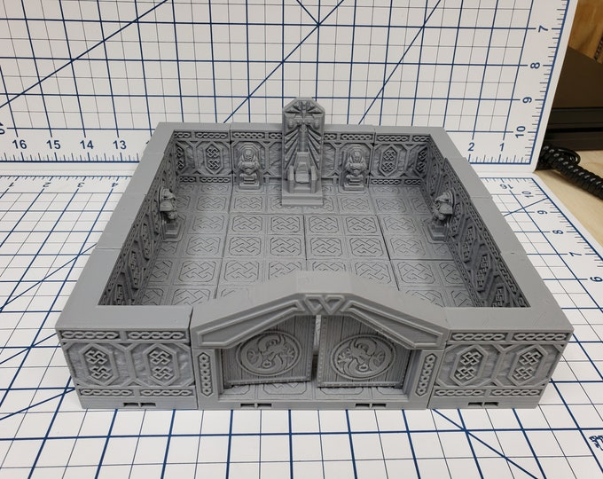 """Featured listing image: Mountain King - Throne Room - Dwarven - DragonLock - DND - Pathfinder - RPG - Dungeon & Dragons - 28 mm / 1"""" - Fat Dragon Games"""
