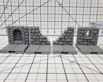 "Dungeon Style - Special Walls 2 - DragonLock - DND - Pathfinder - RPG - Dungeon & Dragons - 28 mm / 1"" - Terrain - Fat Dragon Games"