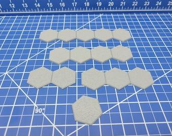 "Flat Stone/Ground Hex Set - Gloomhaven Accessories - Hero's Hoard - EC3D - DND - RPG - Pathfinder - 28 mm / 1"" scale"