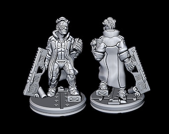 "Zane - Novus Landing - Starfinder - Cyberpunk - Science Fiction - Syfy - RPG - Tabletop - Scatter- Terrain- 28 mm / 1"""