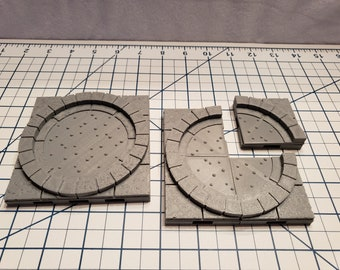 Cut Stone Square Special Floor Tiles - OpenLock or DragonLock - Openforge - DND - Pathfinder - Dungeons & Dragons - RPG - Tabletop - 28 mm