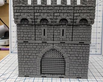 "Castle Gatehouse - DragonLock - DND - Pathfinder - RPG - Dungeon & Dragons - 28 mm / 1"" - Fat Dragon Games"