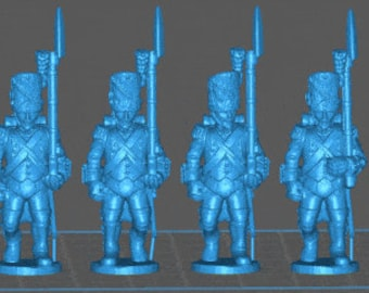 French Line grenadier 1808, high uniform - Great for Table Top War Games And Dioramas - Resin 28mm Miniatures - Bolt Action -