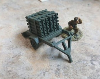Land Mattress Multi-barrel rocket launcher - Great for Table Top War Games And Dioramas - Resin 28mm Miniatures - Bolt Action -