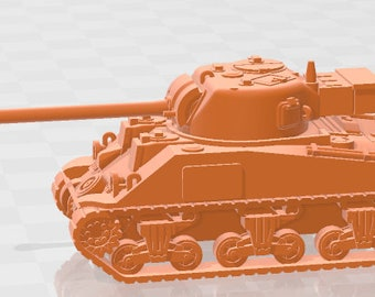 Sherman VC Firefly - USA - Tanks - Armored Vehicle - World Of Tanks - War Game - Wargaming - Axis and Allies - Tabletop Games