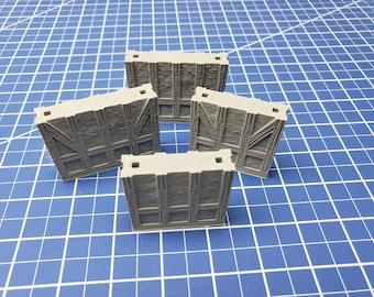 "Half-Timbered External Walls w/ peg holes - Dragonshire - Building - FDG - DND - Pathfinder - RPG - Terrain - 28 mm/ 1"" - Dungeon & Dragons"