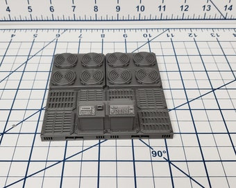 "Engineering Tiles - SciFi - Fat Dragon Games - DragonLock - DND - Pathfinder - RPG - Terrain - Space - Science Fiction  28 mm / 1"""