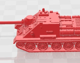Su-85 & Su-100 - USSR - Tanks - Armored Vehicle - World Of Tanks - War Game - Wargaming - Axis and Allies - Tabletop Games