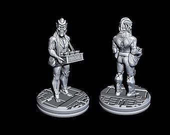 "Alien Food Vendor - Novus Landing - Starfinder - Cyberpunk - Science Fiction - Syfy - RPG - Tabletop - Scatter- Terrain- 28 mm / 1"""