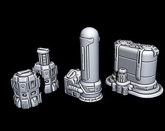 "Cargo Bio - Novus Landing - Starfinder - Cyberpunk - Science Fiction - Syfy - RPG - Tabletop - Scatter - Terrain - 28 mm / 1"" Scale"