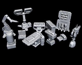 "Cyber Doc - Novus Landing - Starfinder - Cyberpunk - Science Fiction - Syfy - RPG - Tabletop - Scatter - Terrain - 28 mm / 1"""