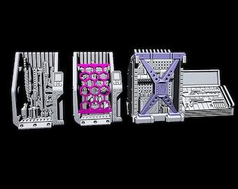 "Arms Dealer - Novus Landing - Starfinder - Cyberpunk - Science Fiction - Syfy - RPG - Tabletop - Scatter - Terrain - 28 mm / 1"" Scale"
