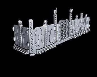 "Fencing - Novus Landing - Starfinder - Cyberpunk - Science Fiction - Syfy - RPG - Tabletop - Scatter - Terrain - 28mm/1"""