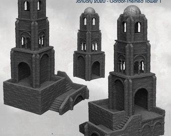 Tower - DND - Dungeons & Dragons - RPG - Pathfinder - Tabletop - TTRPG -  Dark Realms - 32 mm
