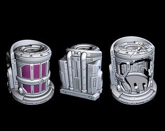 "Cryo Holding Chambers - Novus Landing - Starfinder - Cyberpunk - Science Fiction - Syfy - RPG - Tabletop - Scatter - Terrain - 28 mm / 1"""