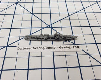 Destroyer - Gearing Class - USN - Wargaming - Axis and Allies - Naval Miniature - Victory at Sea - Tabletop Games - Warships