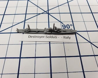 Destroyer - Soldati Class - Italian Navy - Wargaming - Axis and Allies - Naval Miniature - Victory at Sea - Tabletop Games - Warships