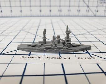 Battleship - Deutschland - German Navy - Wargaming - Axis and Allies - Naval Miniature - Victory at Sea - US Navy - Tabletop - Warships