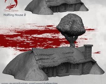 House 2 - DND - Dungeons & Dragons - RPG - Pathfinder - Tabletop - TTRPG - Halfling Village - Dark Realms - 28 mm