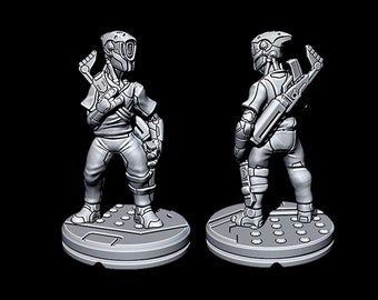 "Droid Hunter - Novus Landing - Starfinder - Cyberpunk - Science Fiction - Syfy - RPG - Tabletop - Scatter- Terrain- 28 mm / 1"""