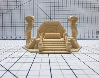 "Empire of Scorching Sands - Snake Altar - DND - Dungeons & Dragons - RPG - Terrain - Pathfinder - Tabletop - EC3D - Miniature - 28 mm - 1"""