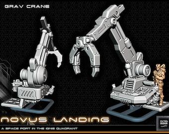 "Gravity Crane - Novus Landing - Starfinder - Cyberpunk - Science Fiction - Syfy - RPG - Tabletop - Scatter- Terrain- 28 mm / 1"""