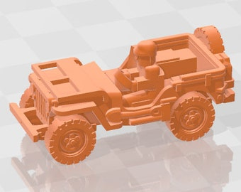 Jeep Open - USA - Tanks - Armored Vehicle - World Of Tanks - War Game - Wargaming - Axis and Allies - Tabletop Games