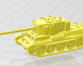 Charioteer - UK - Tanks - Armored Vehicle - World Of Tanks - War Game - Wargaming - Axis and Allies - Tabletop Games