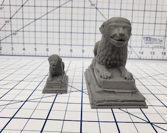 Lion Statue - OpenForge - DND - Pathfinder - RPG - Dungeon & Dragons - Tabletop - Terrain