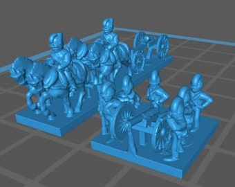 British Horse Artillery and train - Great for Table Top War Games And Dioramas - Resin 6mm Miniatures - Bolt Action -