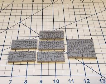 """Street Sidewalk Brick Floor Tiles - OpenLock or DragonLock - Openforge - DND - Pathfinder - Dungeons & Dragons - RPG - Tabletop - 28 mm / 1"""""""