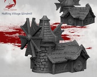 Windmill - DND - Dungeons & Dragons - RPG - Pathfinder - Tabletop - TTRPG - Halfling Village - Dark Realms - 28 mm