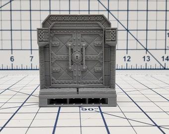"Dwarven Hall Door Tile - OpenLock or DragonLock - Openforge - DND - Pathfinder - Dungeons & Dragons - RPG - Tabletop - 28 mm / 1"""
