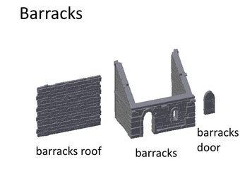 Barracks Small - DND - Dungeons & Dragons - RPG - Pathfinder - Tabletop - TTRPG - Devious Games - Lord's Hall - 28 mm