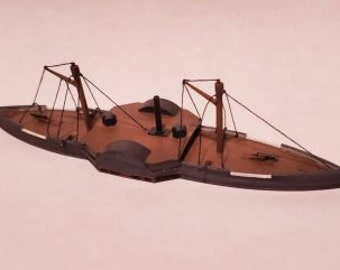 USS Sassacus - Union - Ships - Sailboats - Age of Sail - War Game - Wargaming - Tabletop Games - 1/600 Scale